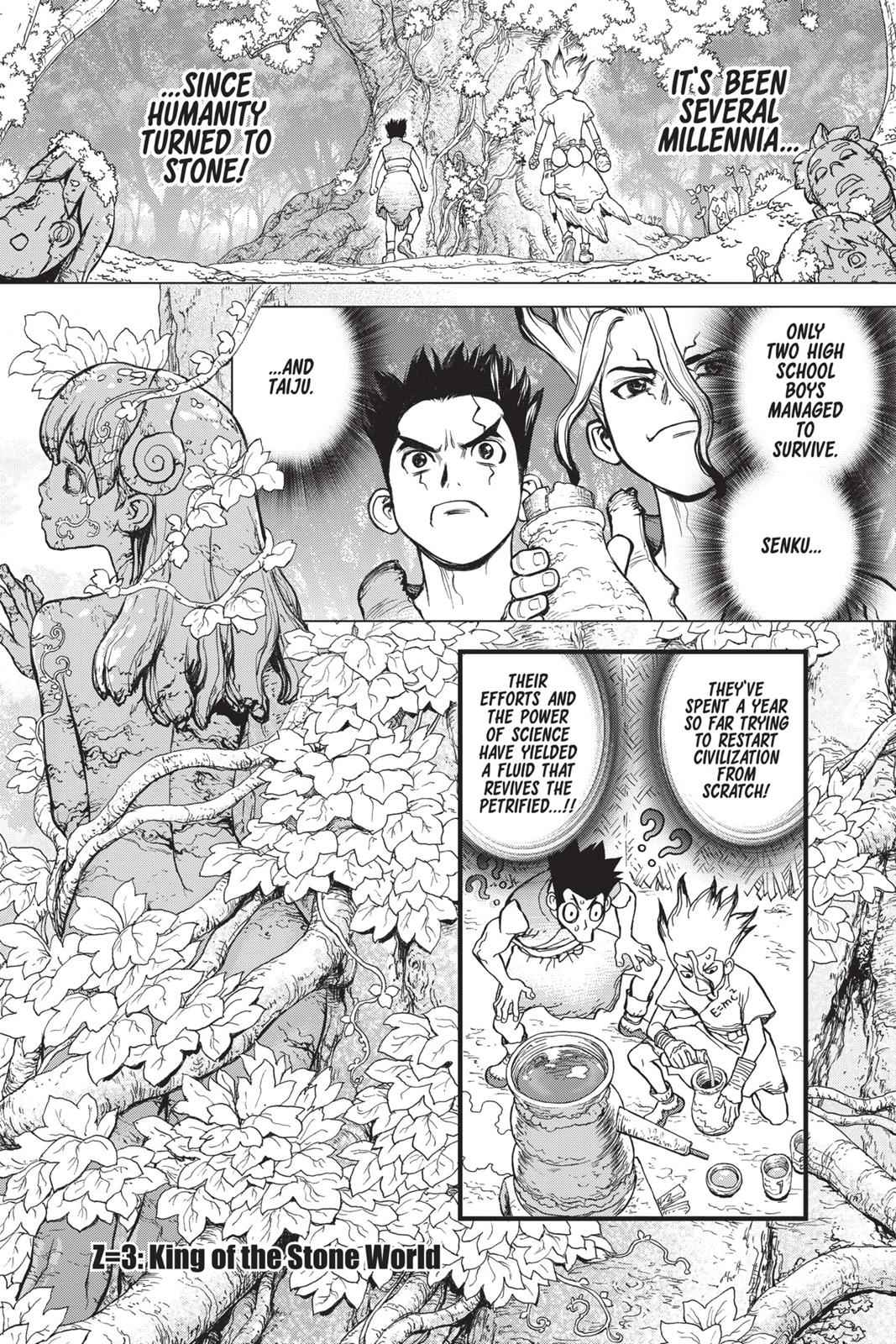 Dr. Stone Chapter 3 Page 1