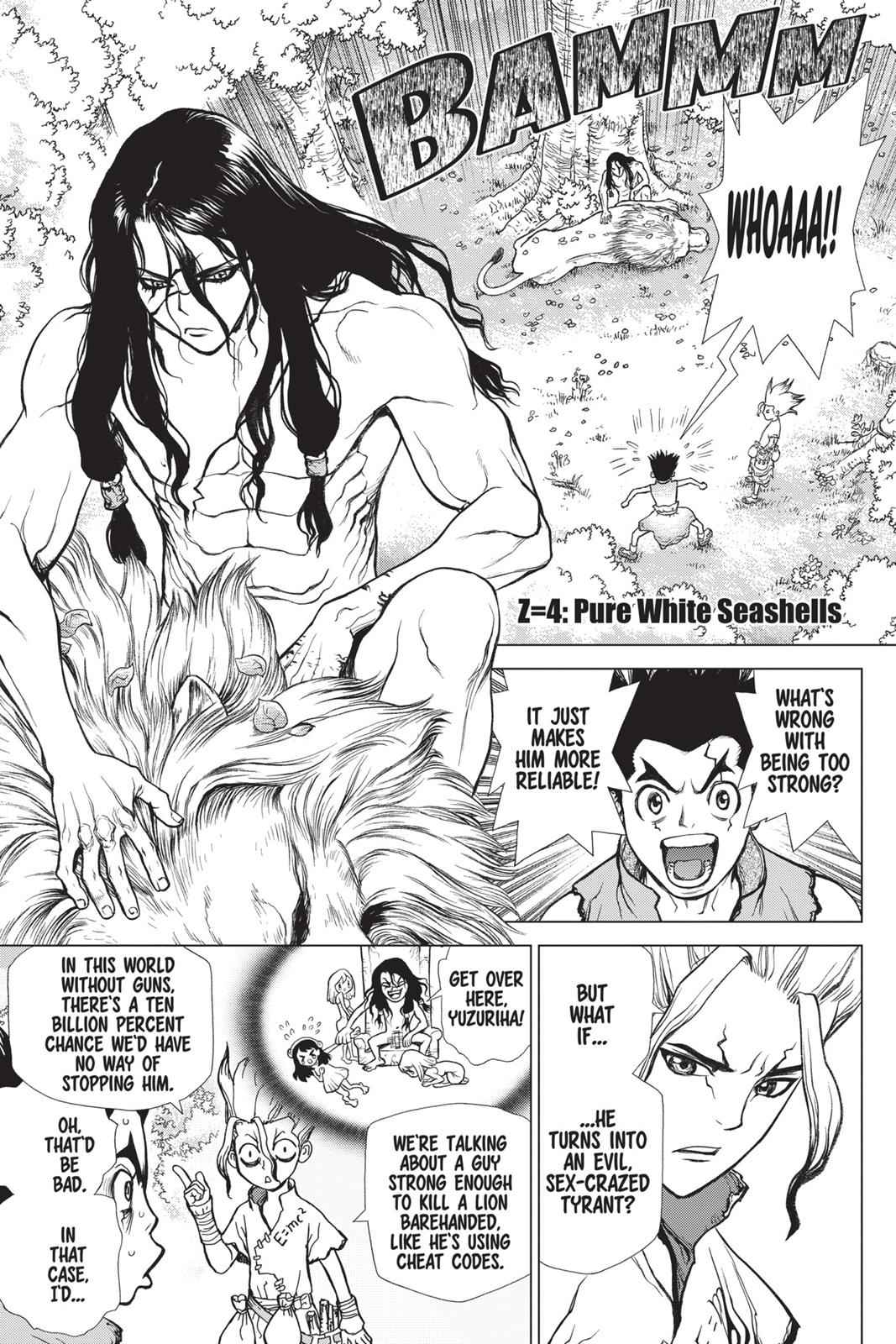 Dr. Stone Chapter 4 Page 1