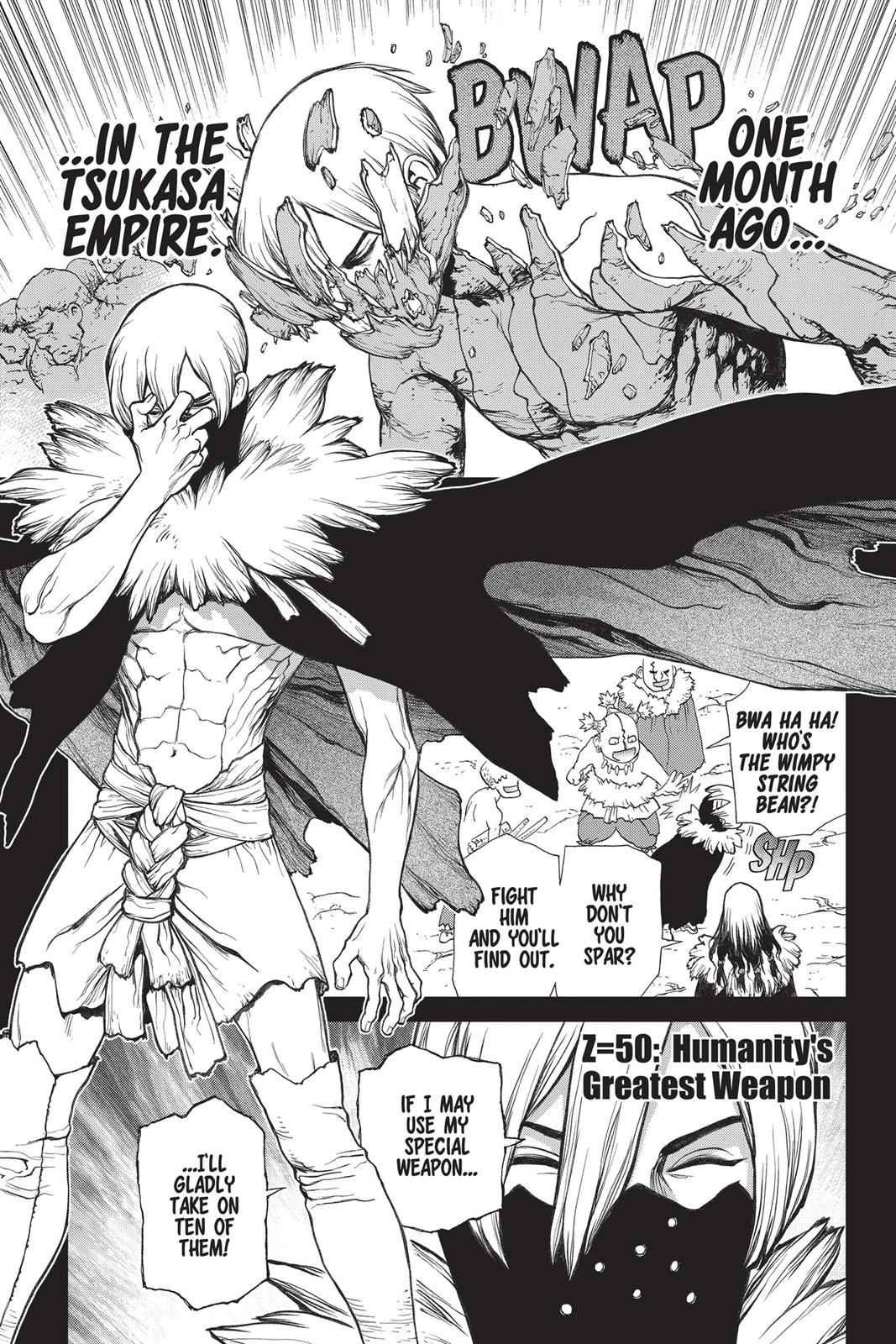 Dr. Stone Chapter 50 Page 1