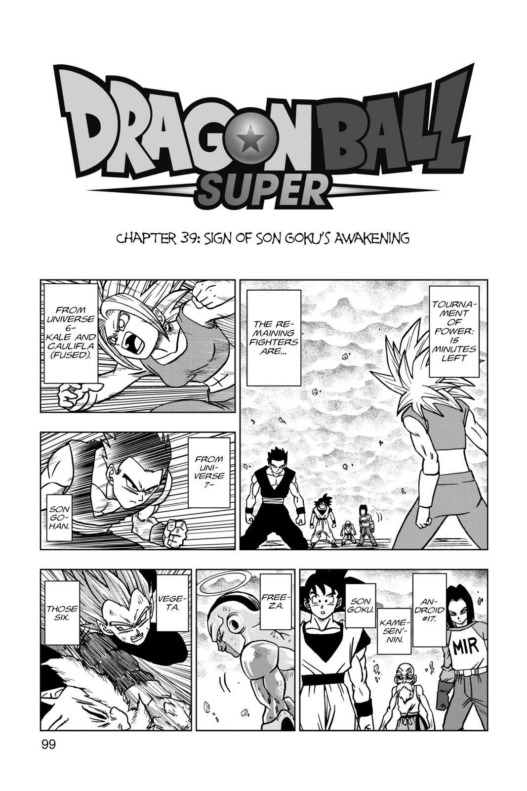 Dragon Ball Super Chapter 39 Page 1