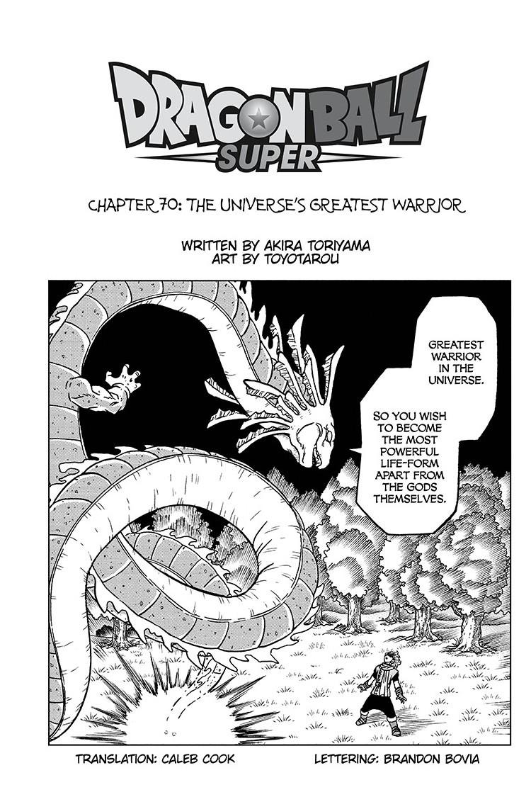 Dragon Ball Super Chapter 70 Page 1