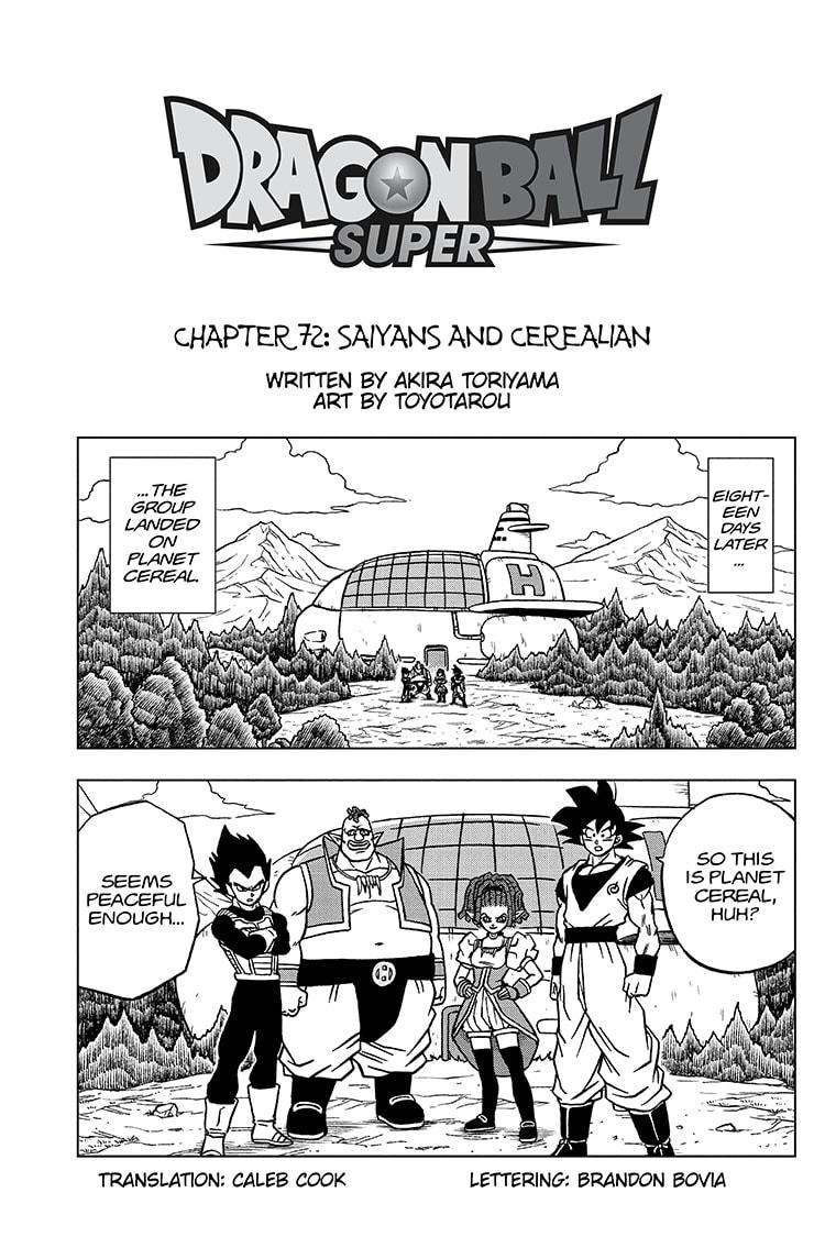 Dragon Ball Super Chapter 72 Page 1