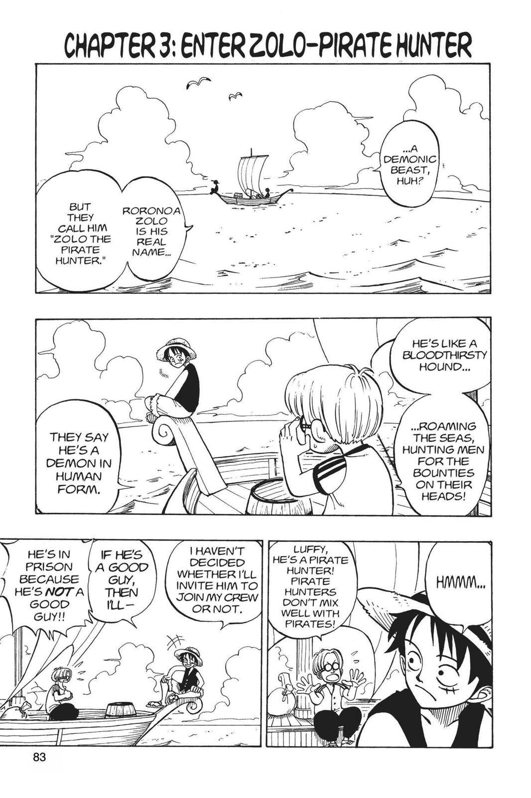 One Piece Chapter 3 Page 1