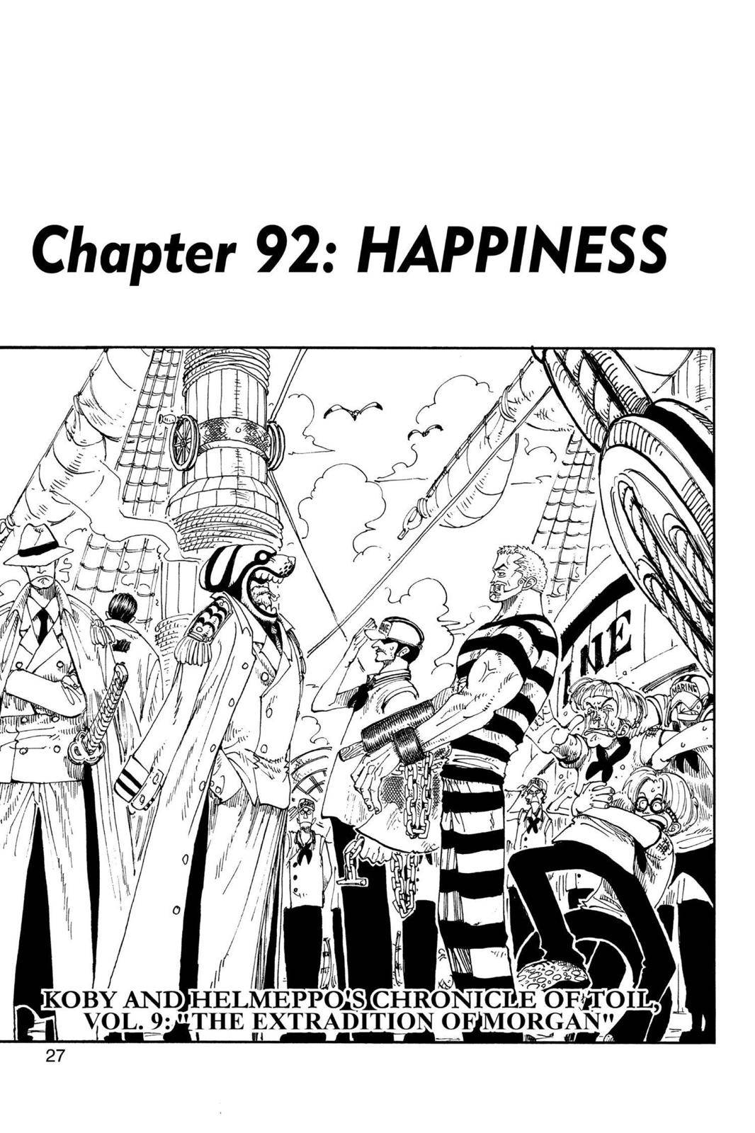 One Piece Chapter 92 Page 1
