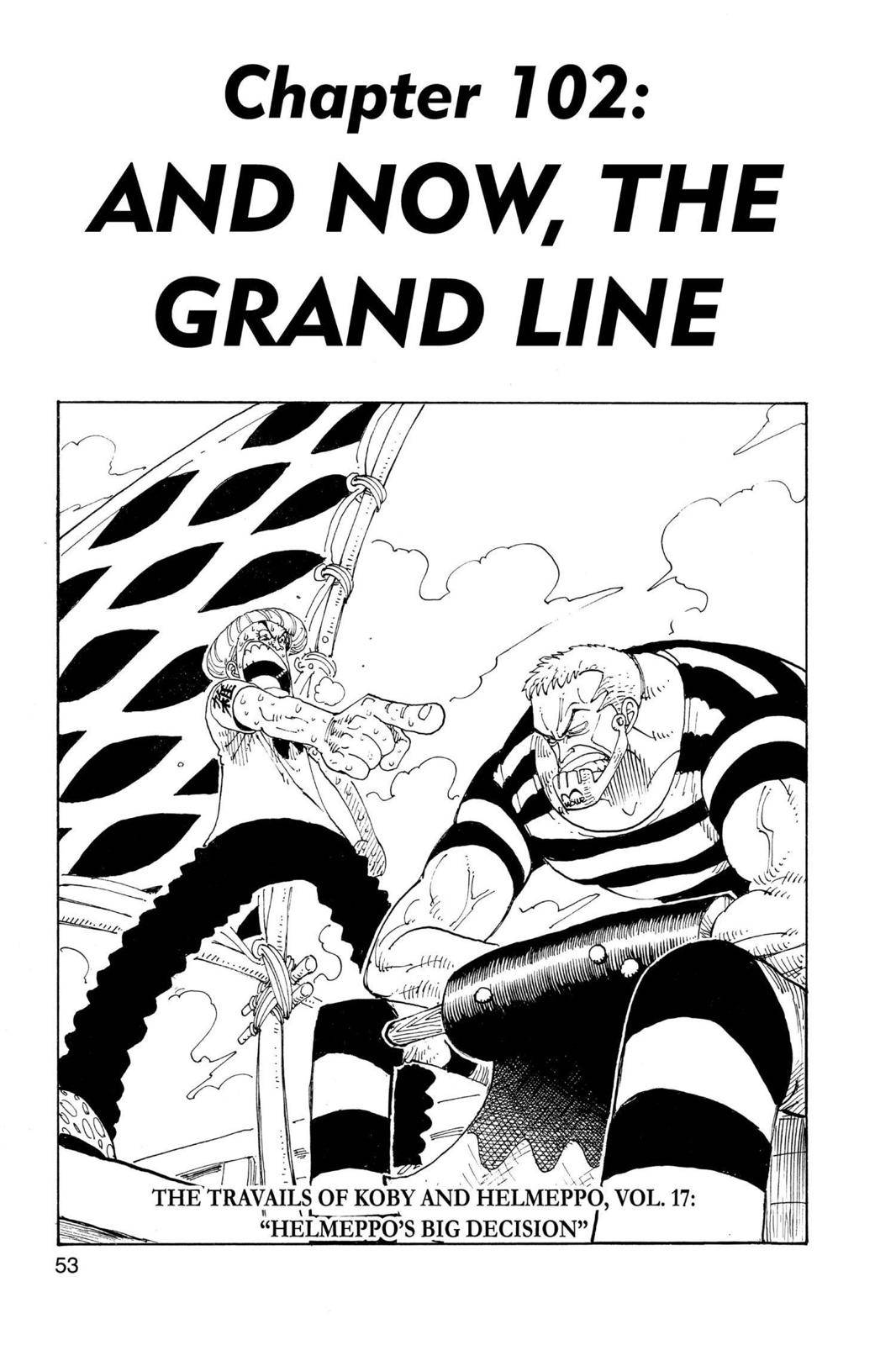 One Piece Chapter 102 Page 1