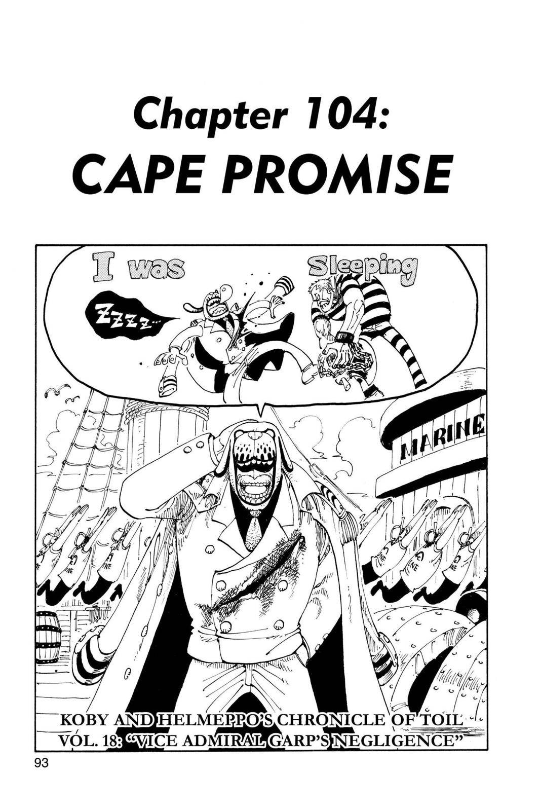 One Piece Chapter 104 Page 1