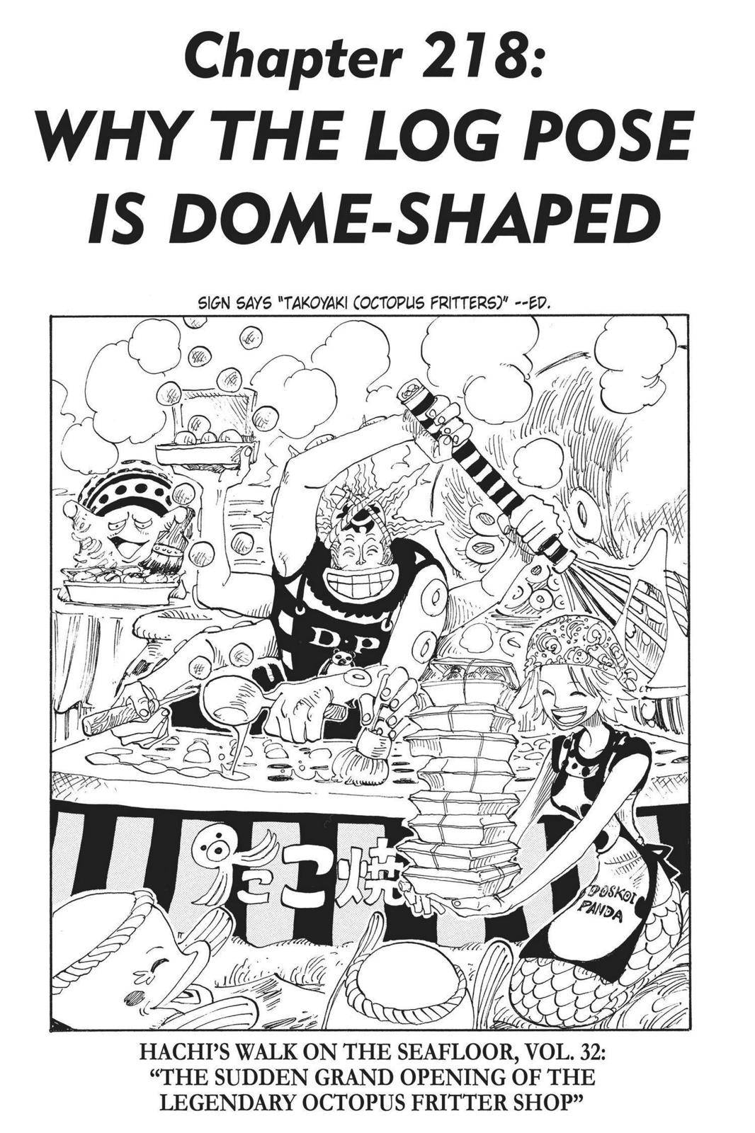 One Piece Chapter 218 Page 1