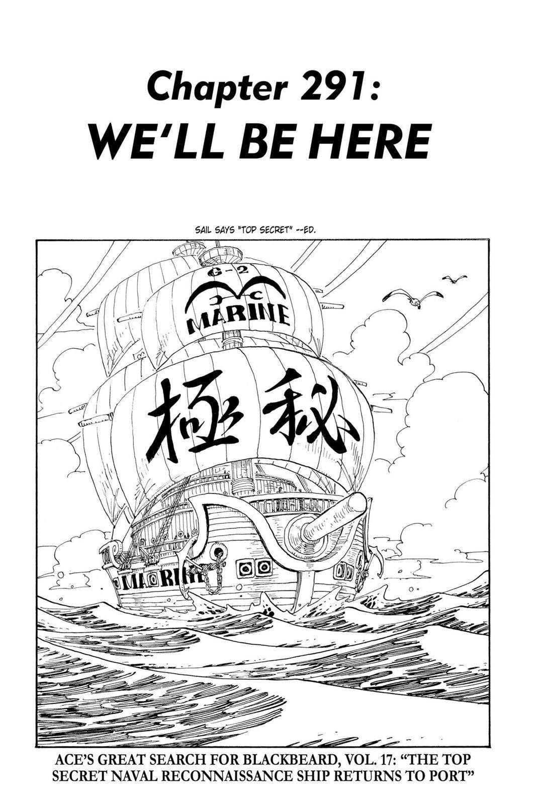 One Piece Chapter 291 Page 1