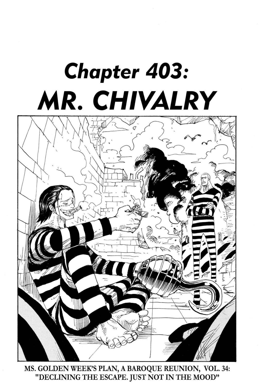 One Piece Chapter 403 Page 1