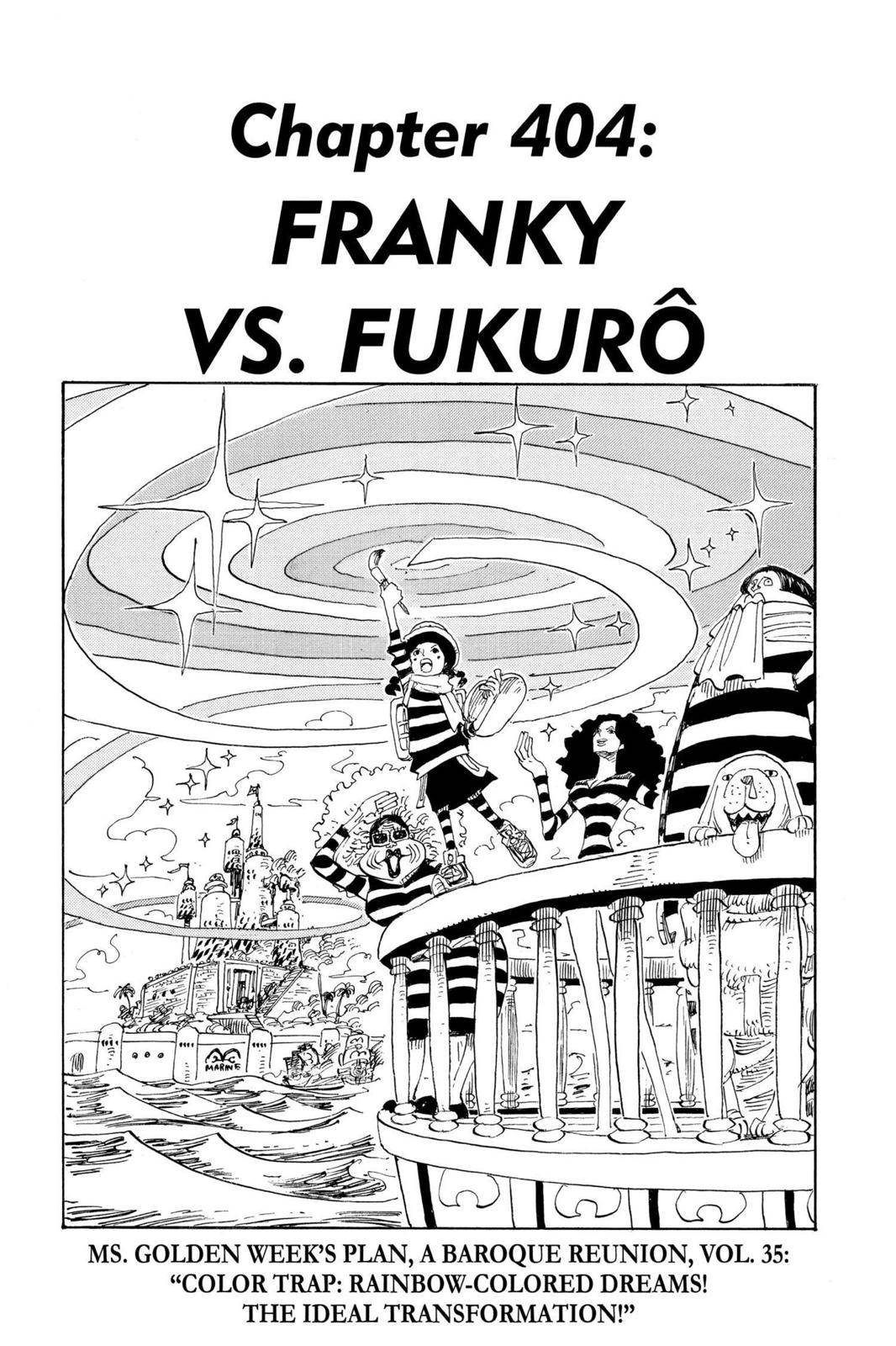 One Piece Chapter 404 Page 1