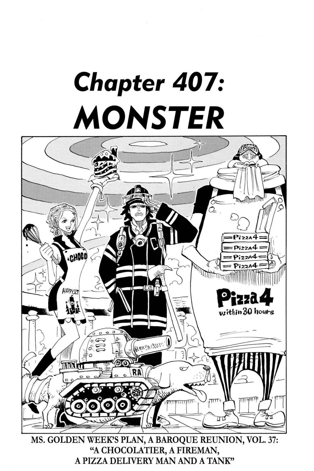 One Piece Chapter 407 Page 1