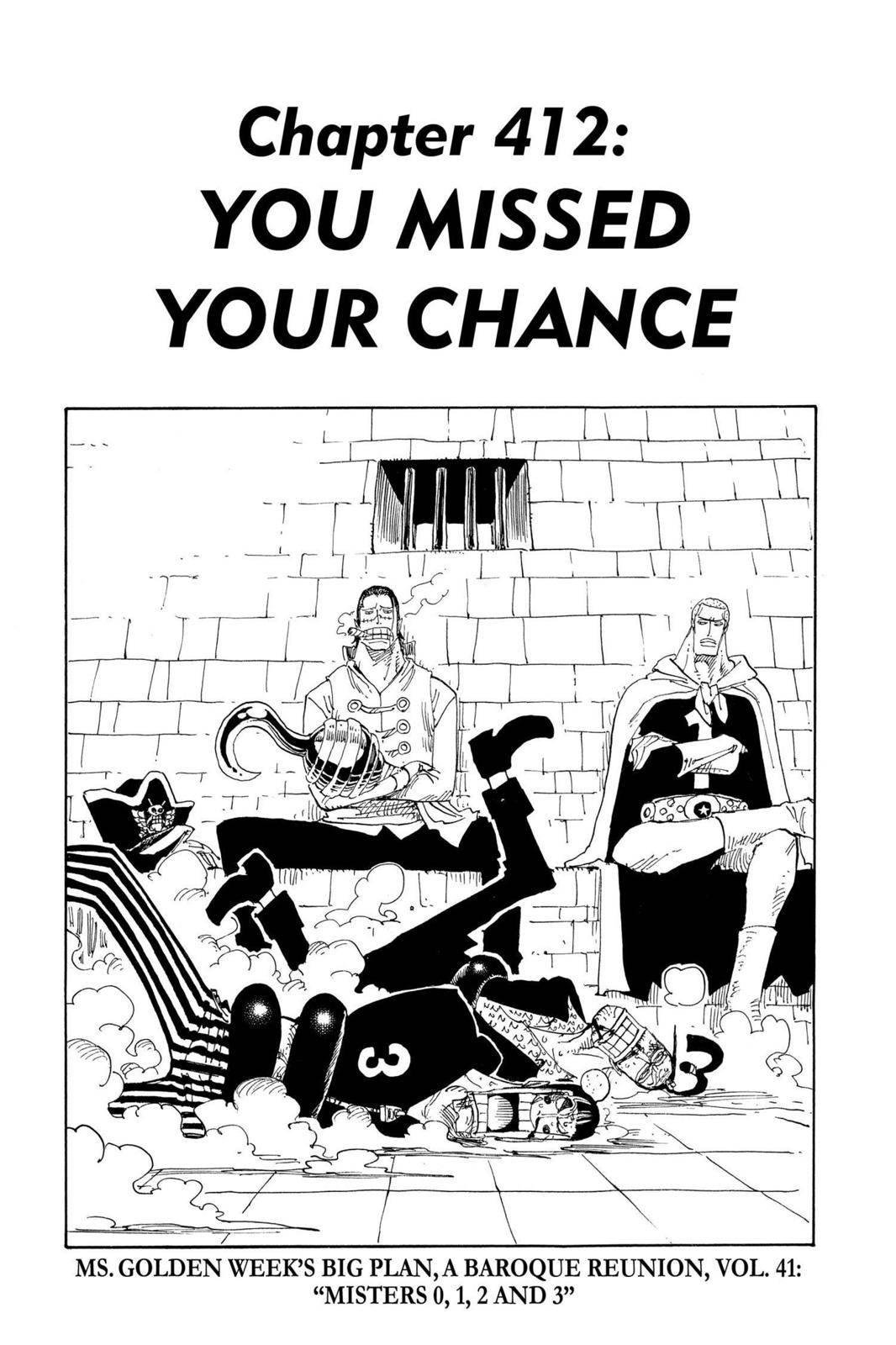 One Piece Chapter 412 Page 1