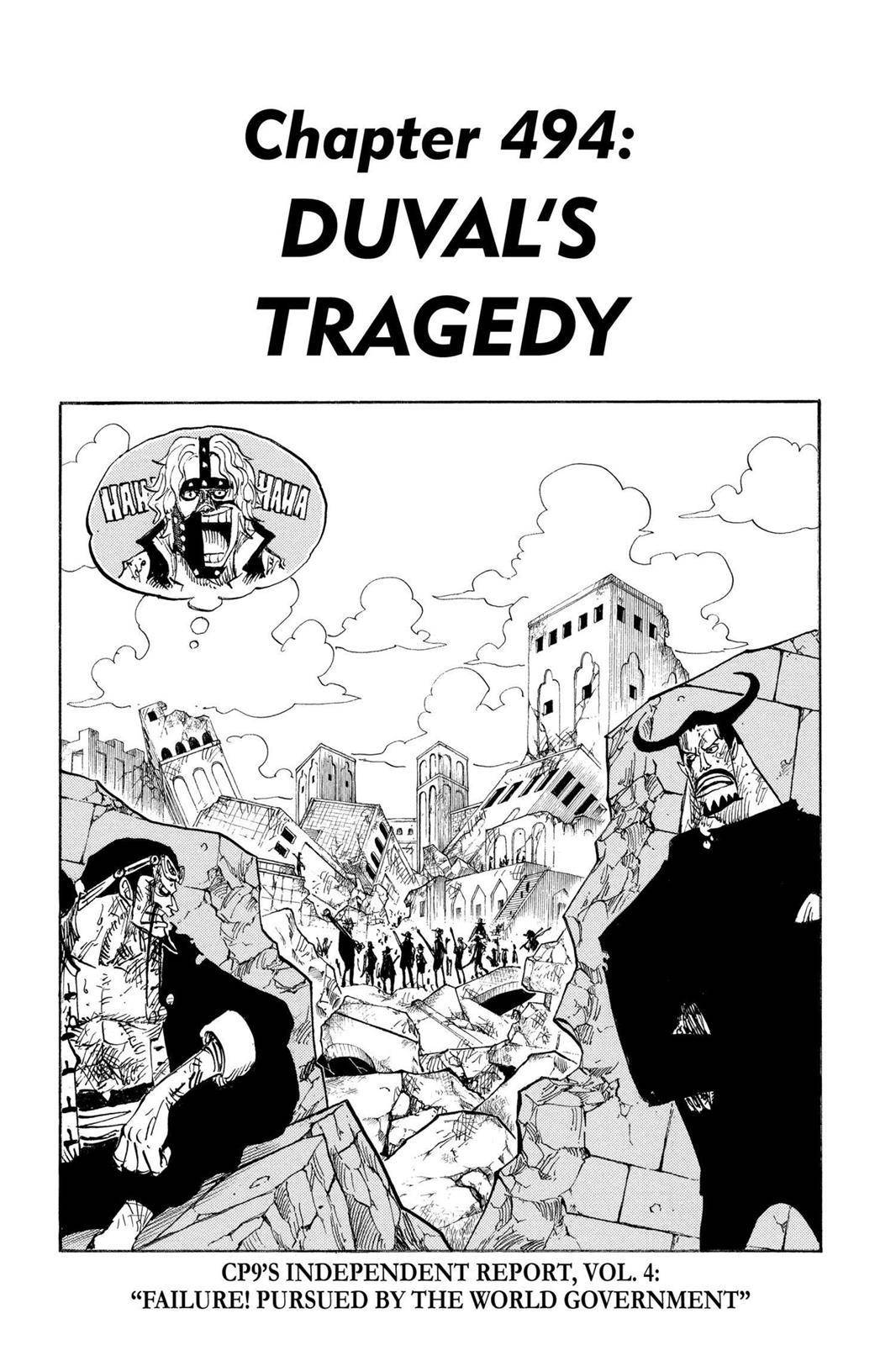 One Piece Chapter 494 Page 1
