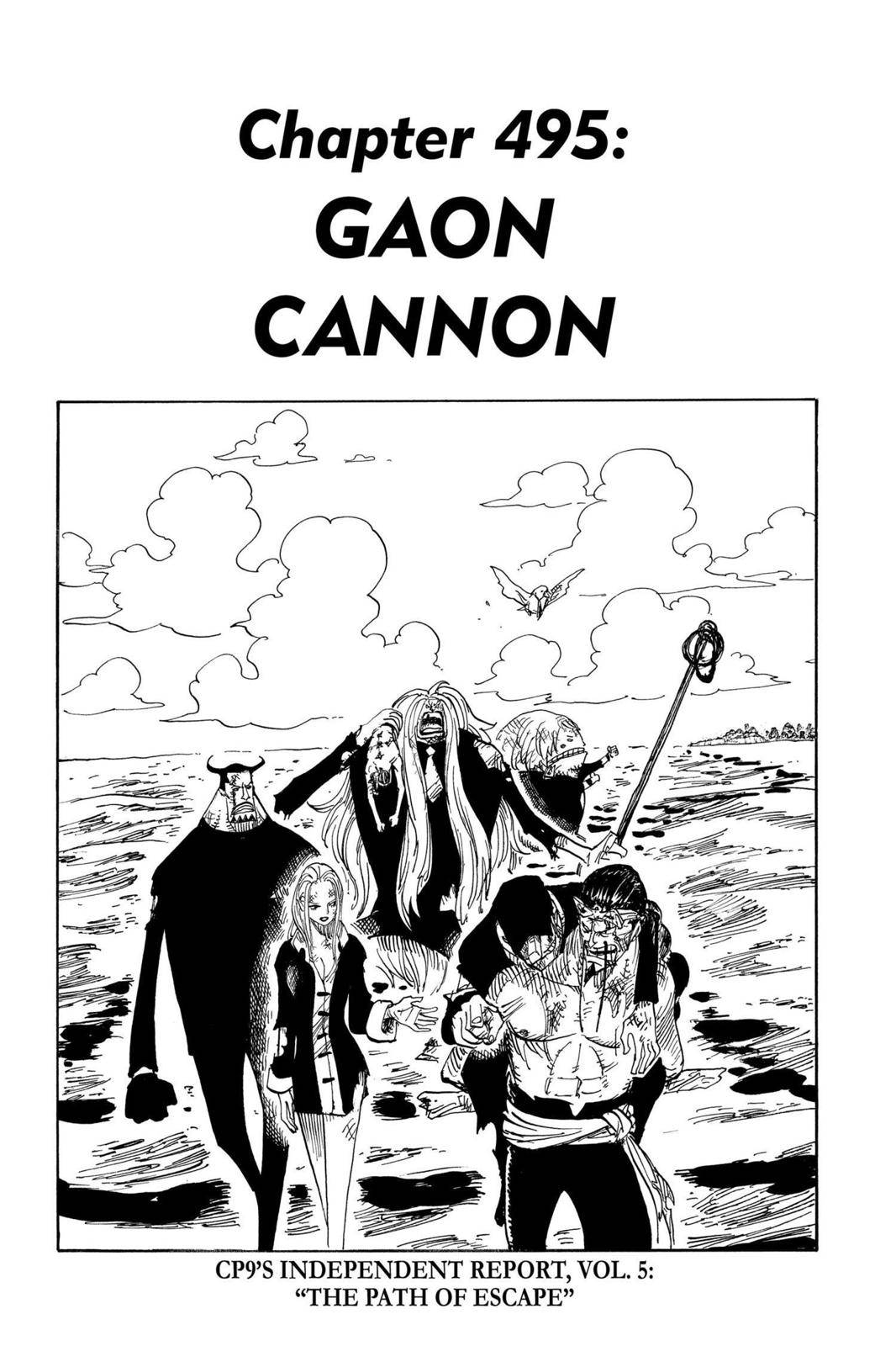 One Piece Chapter 495 Page 1