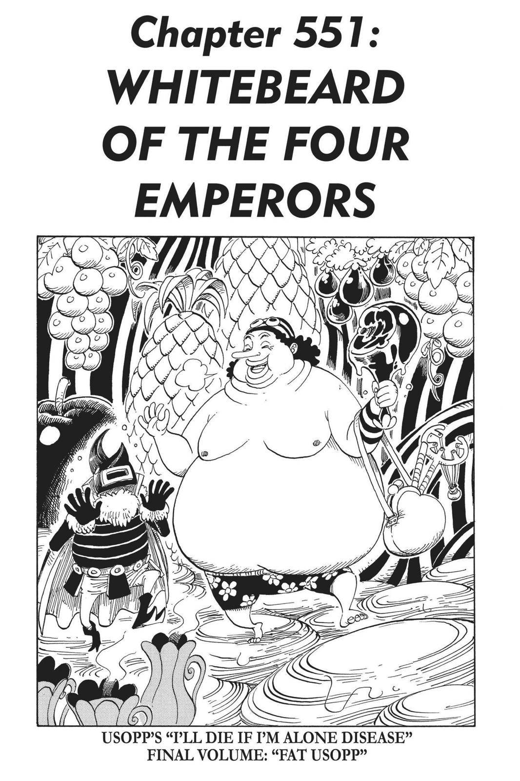 One Piece Chapter 551 Page 1