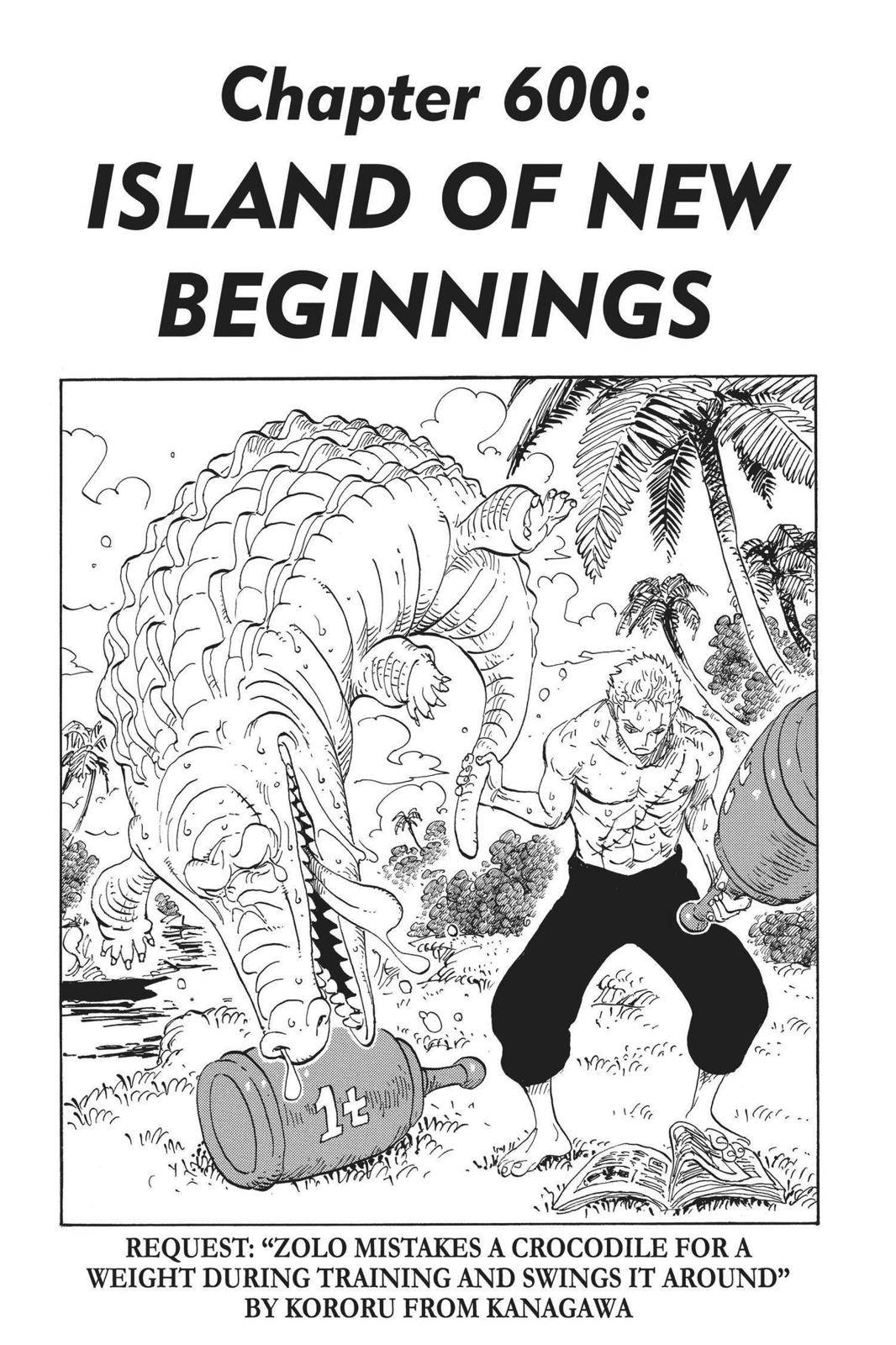One Piece Chapter 600 Page 1