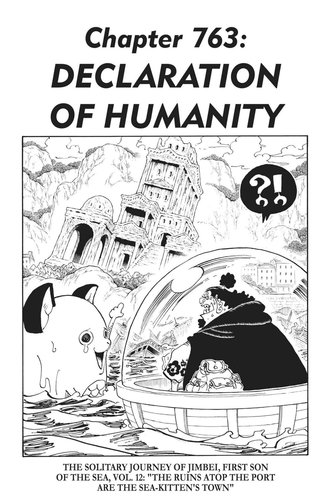 One Piece Chapter 763 Page 1