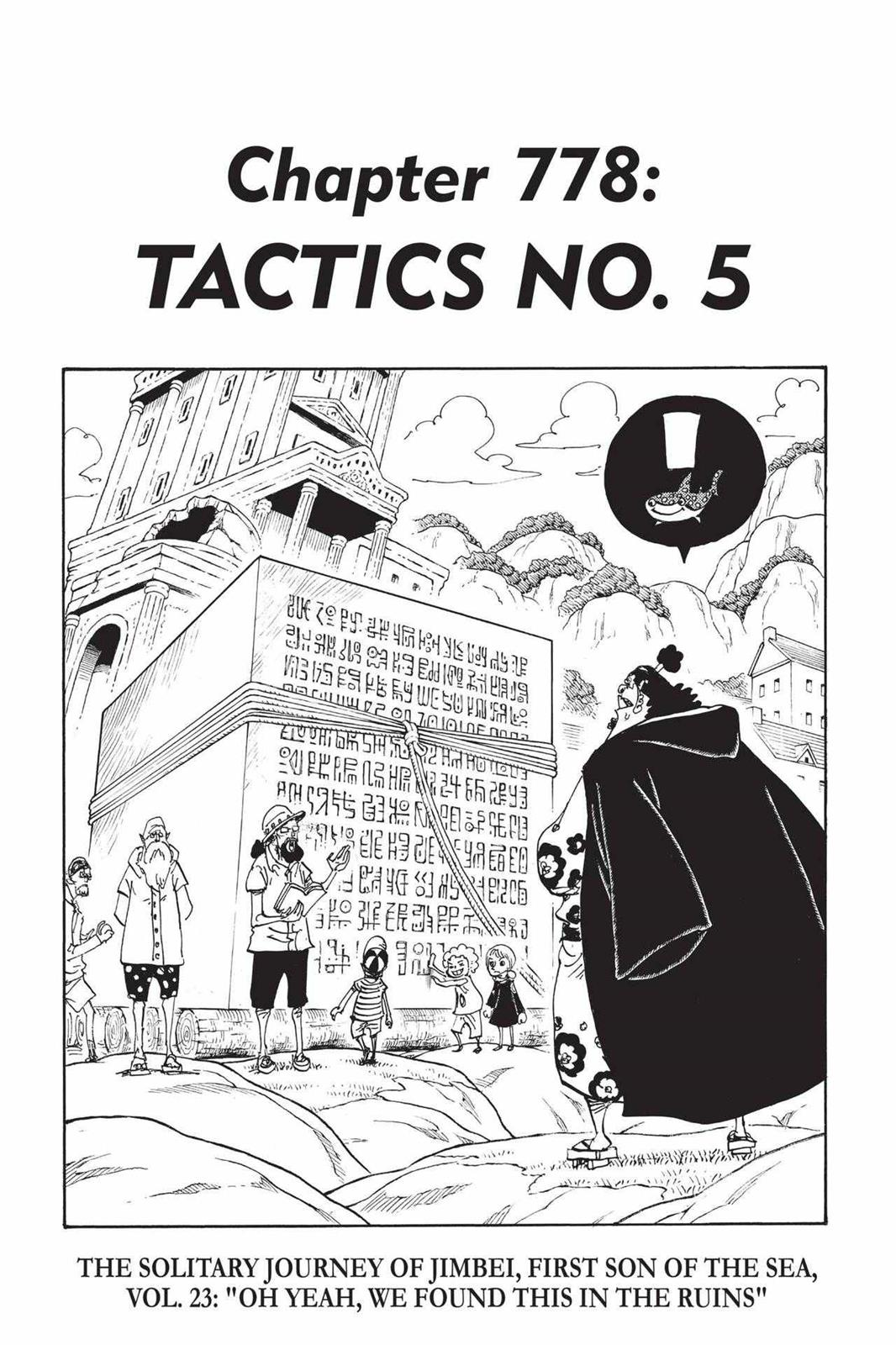 One Piece Chapter 778 Page 1