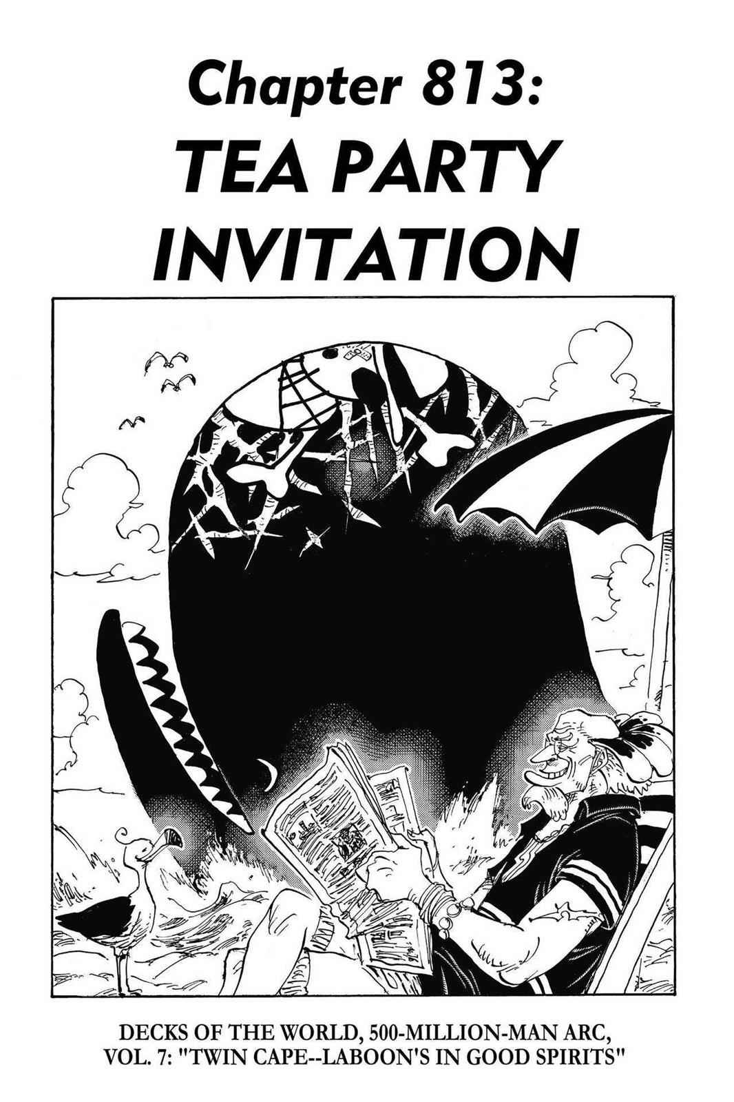One Piece Chapter 813 Page 1