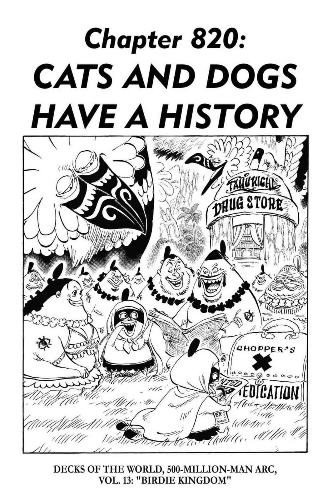 One Piece Chapter 820 Page 1