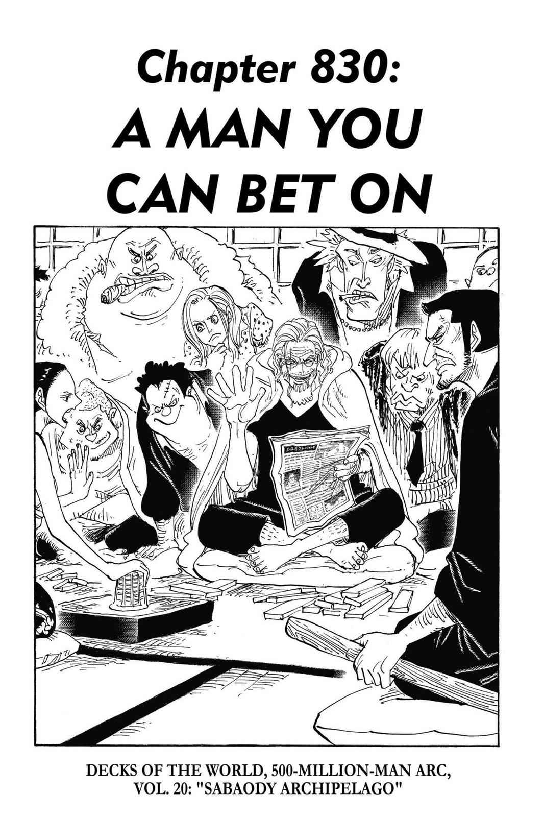 One Piece Chapter 830 Page 1
