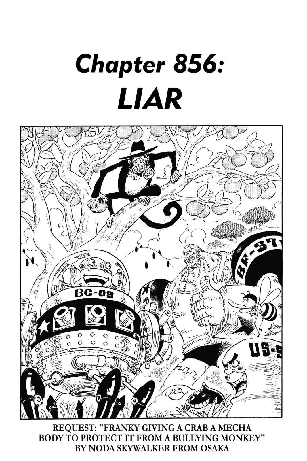 One Piece Chapter 856 Page 1