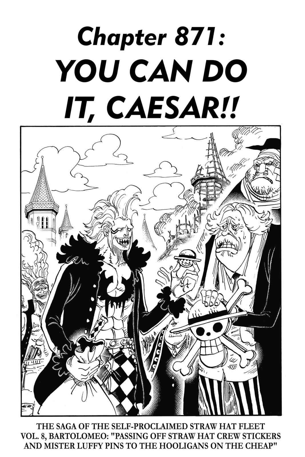 One Piece Chapter 871 Page 1