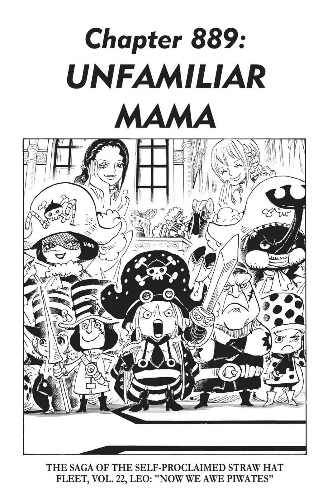 One Piece Chapter 889 Page 1