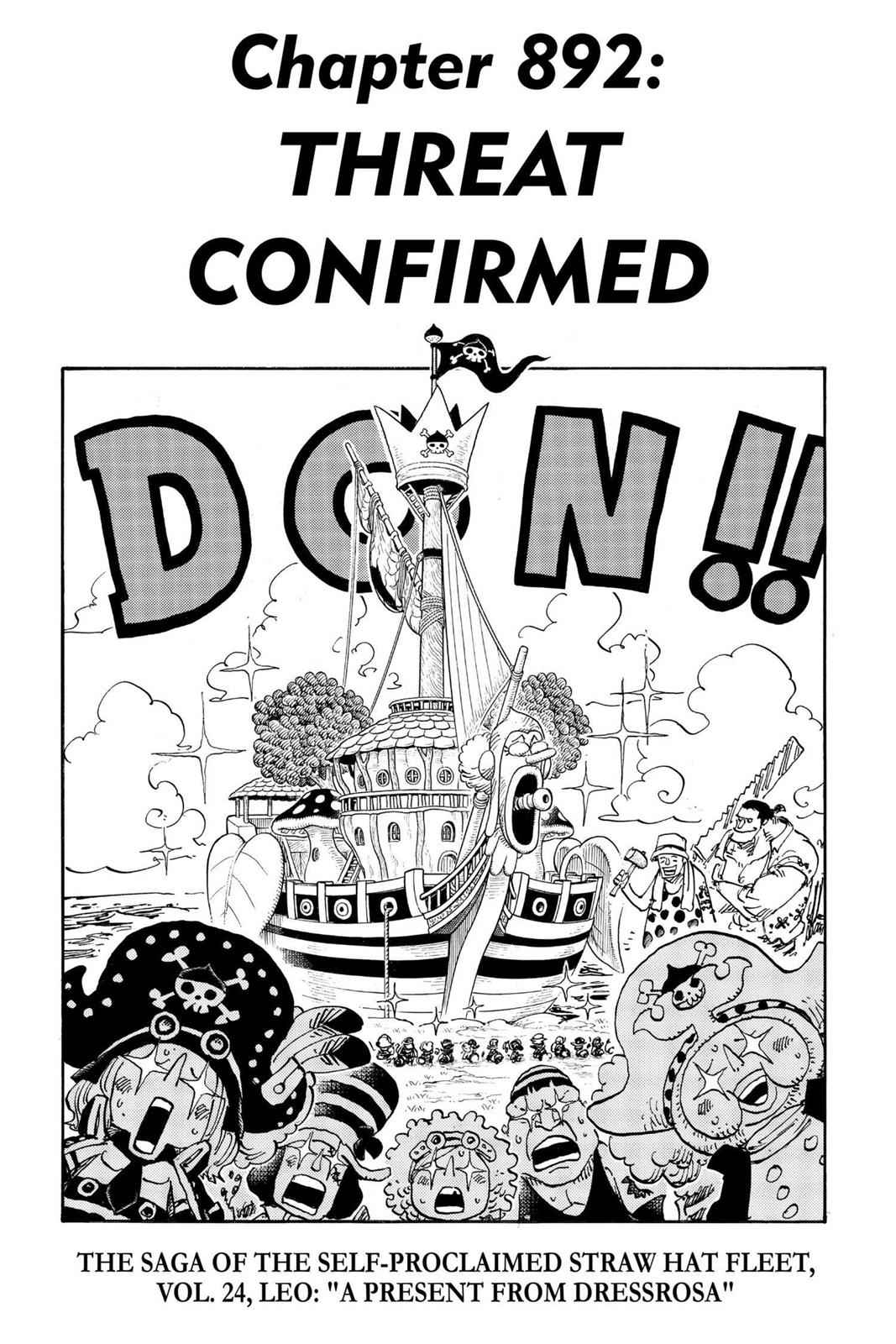 One Piece Chapter 892 Page 1