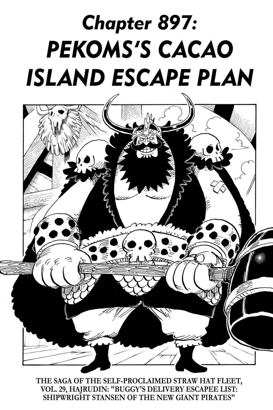 One Piece Chapter 897 Page 1
