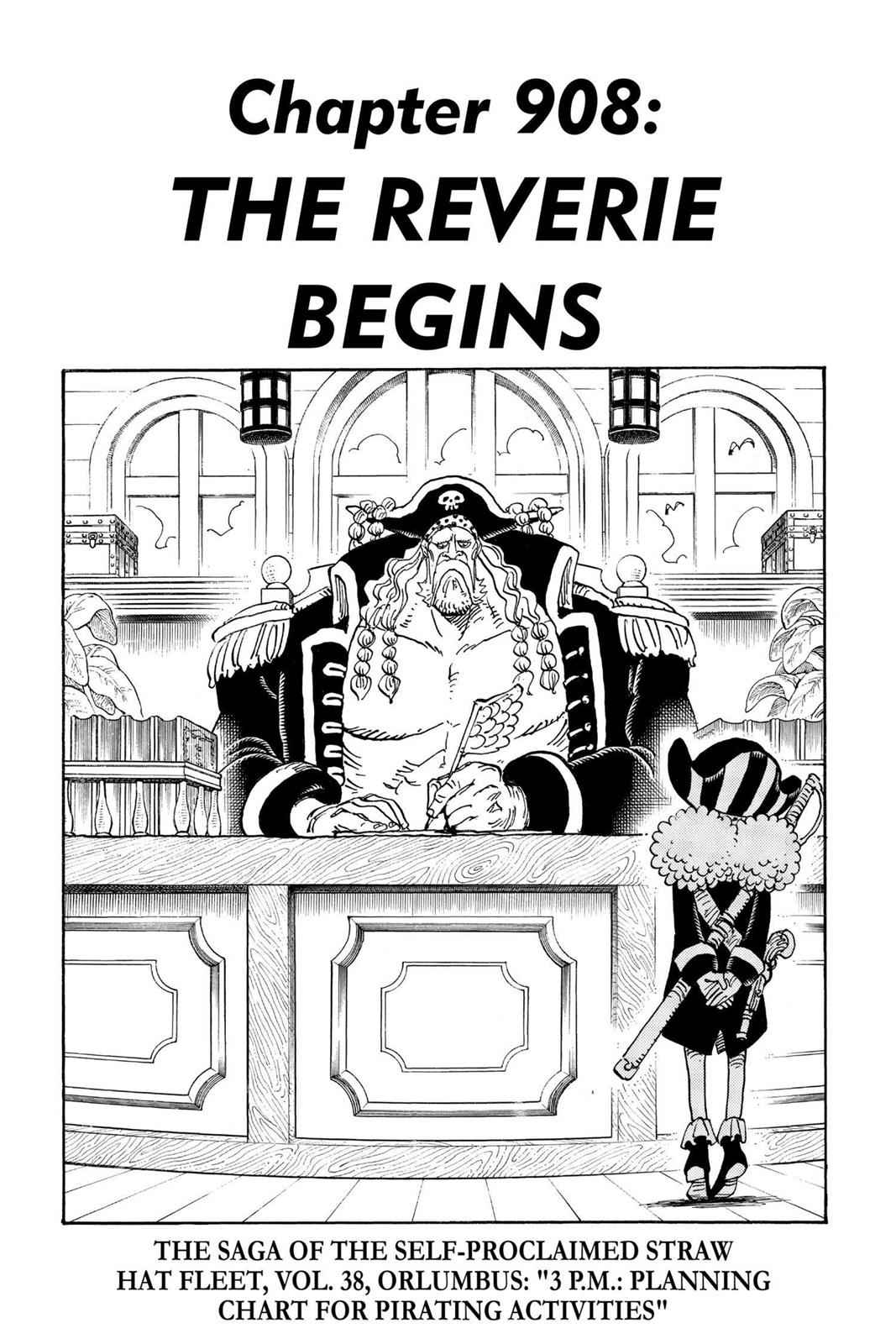 One Piece Chapter 908 Page 1