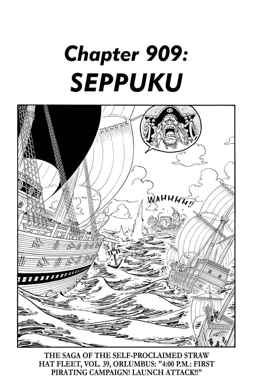 One Piece Chapter 909 Page 1