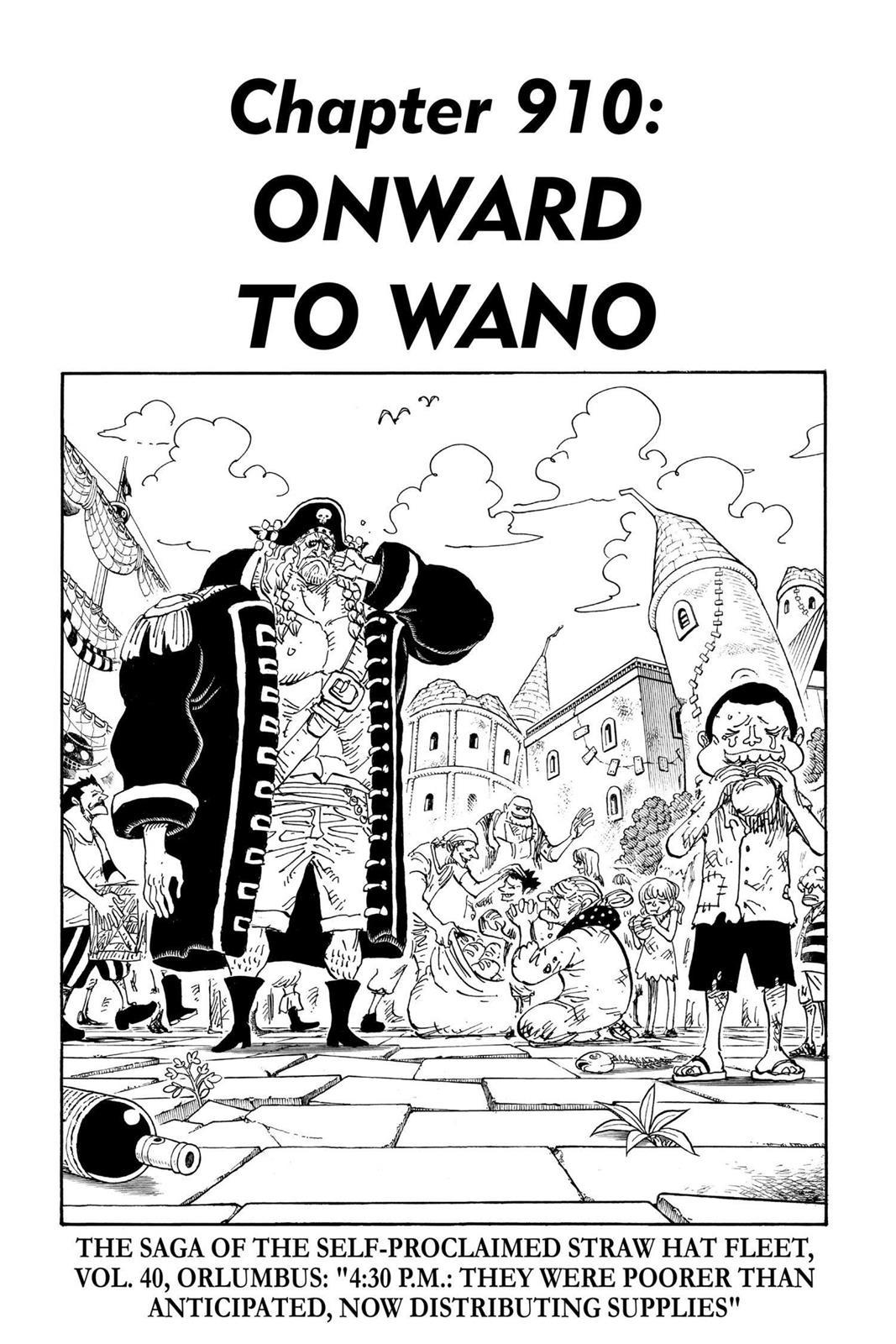 One Piece Chapter 910 Page 1