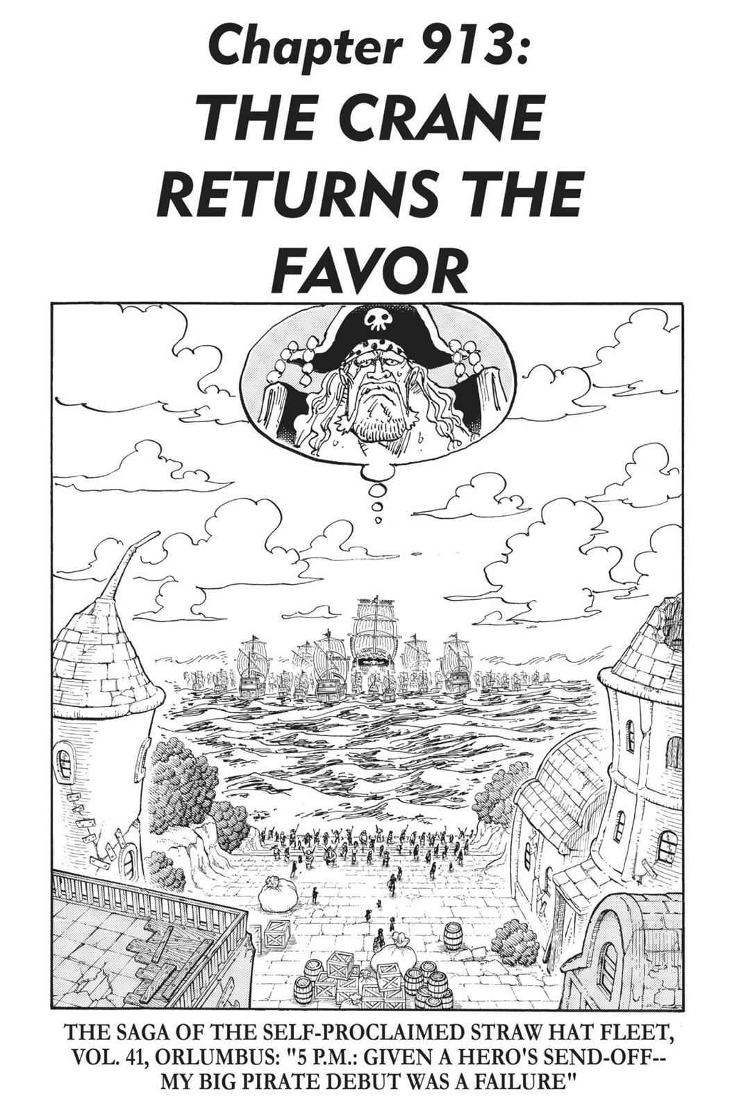 One Piece Chapter 913 Page 1