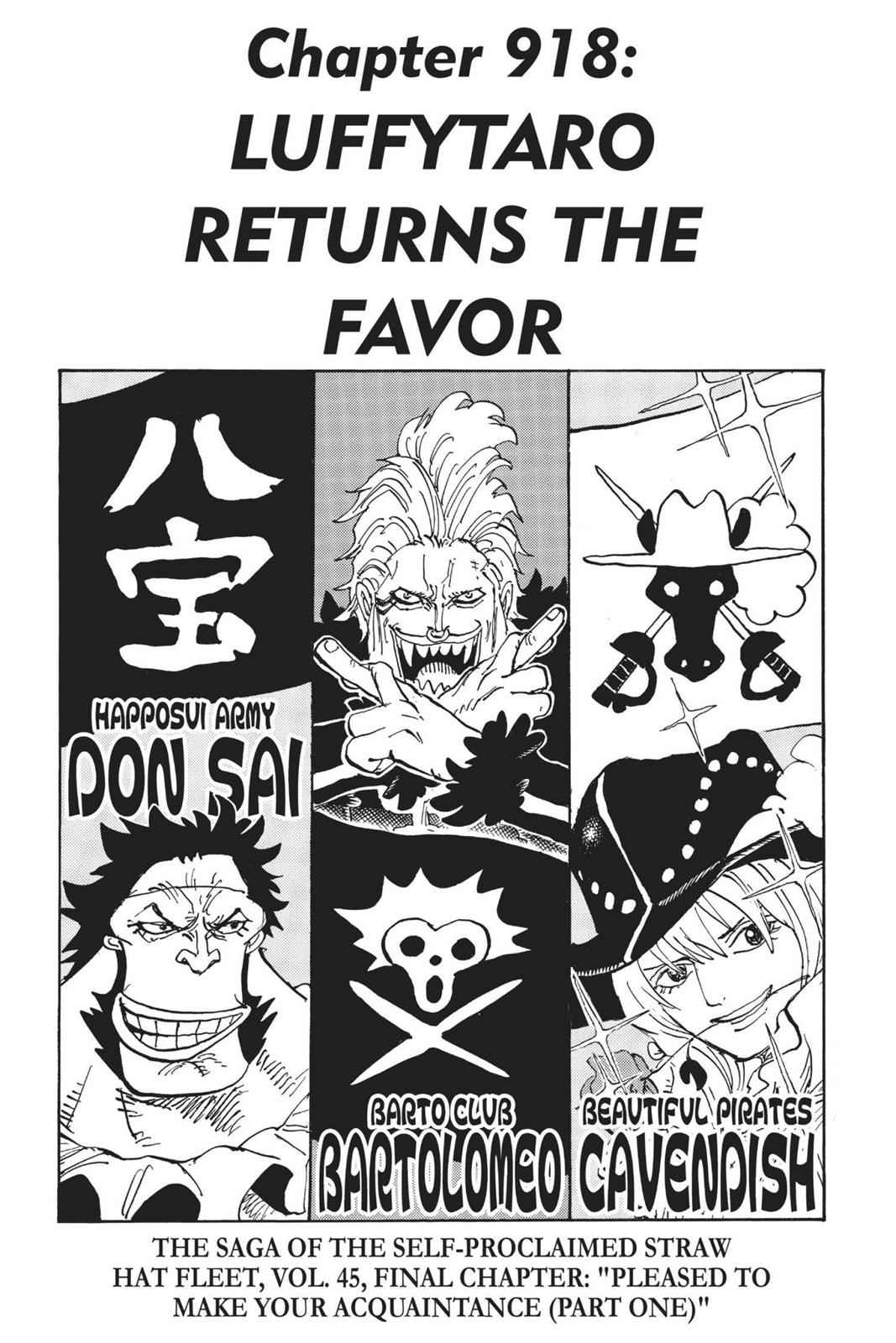 One Piece Chapter 918 Page 1