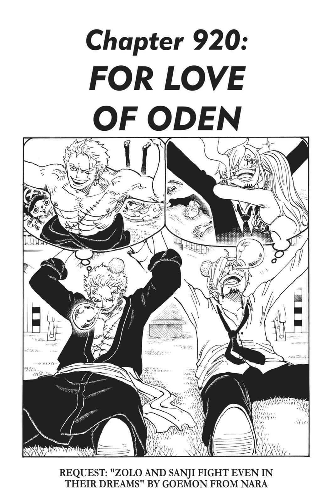 One Piece Chapter 920 Page 1