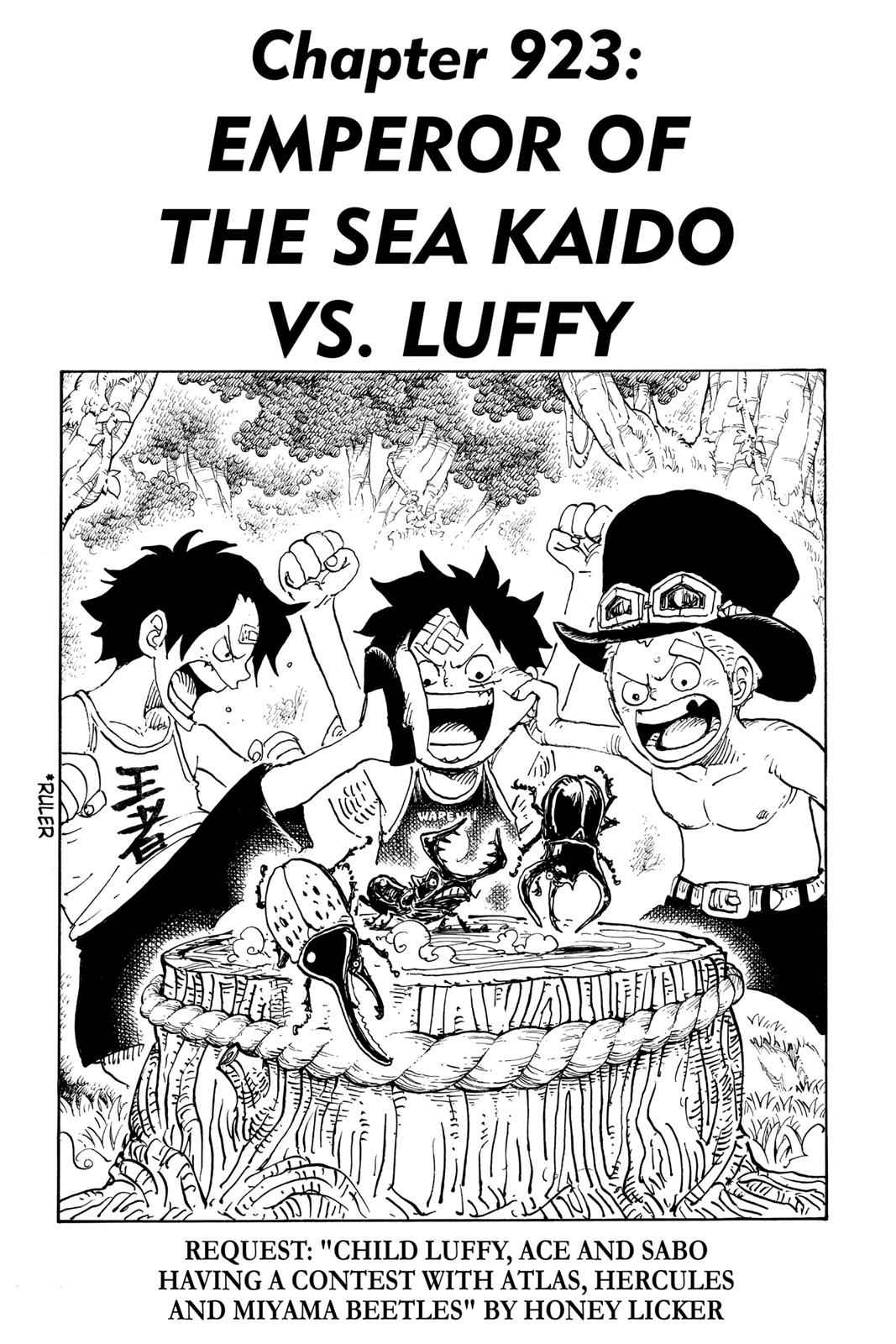 One Piece Chapter 923 Page 1