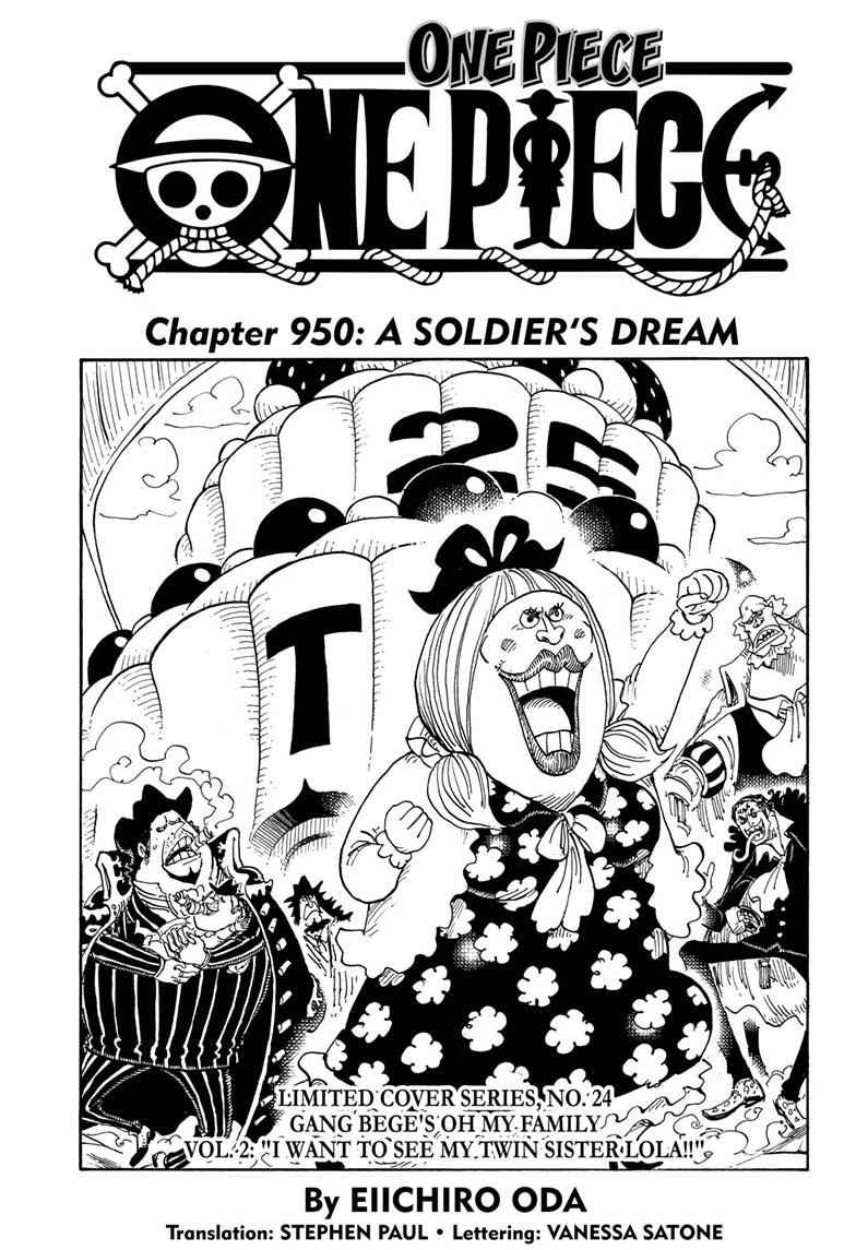 One Piece Chapter 950 Page 1