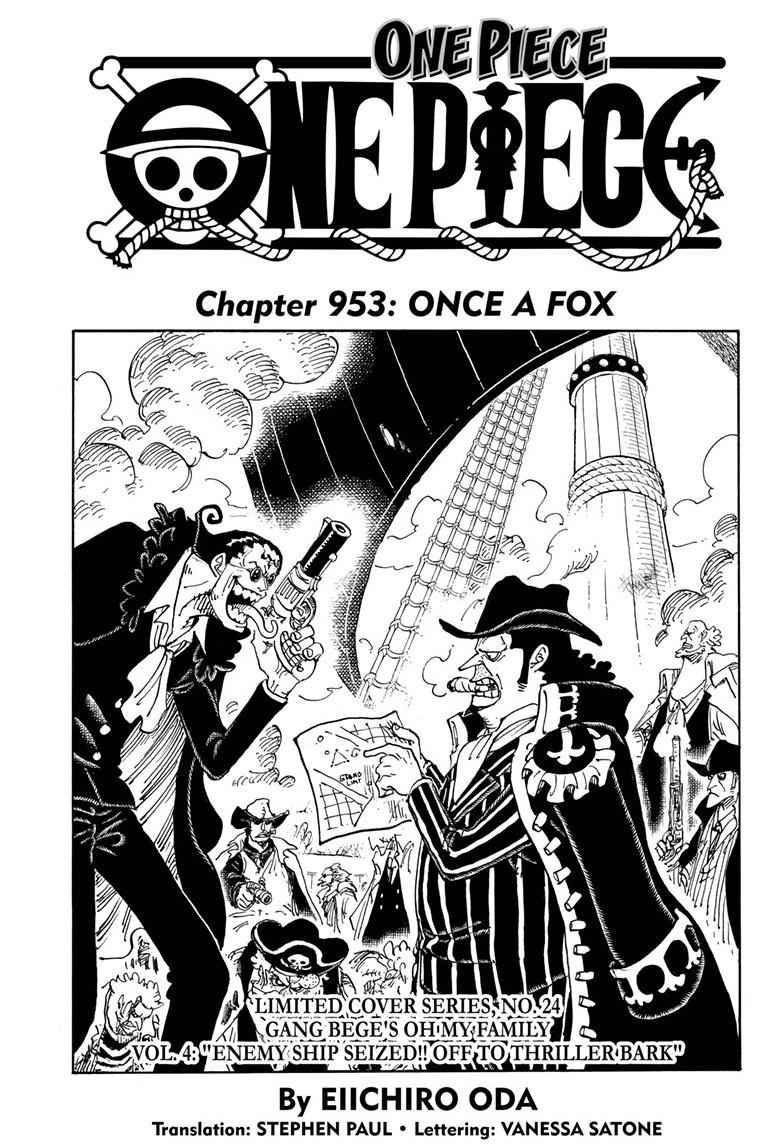 One Piece Chapter 953 Page 1