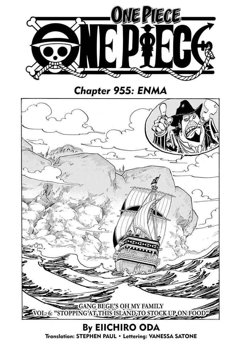 One Piece Chapter 955 Page 1