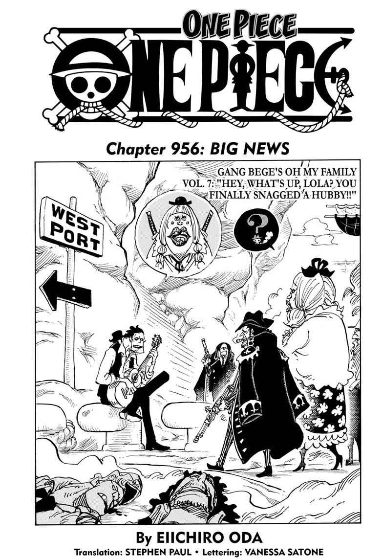 One Piece Chapter 956 Page 1