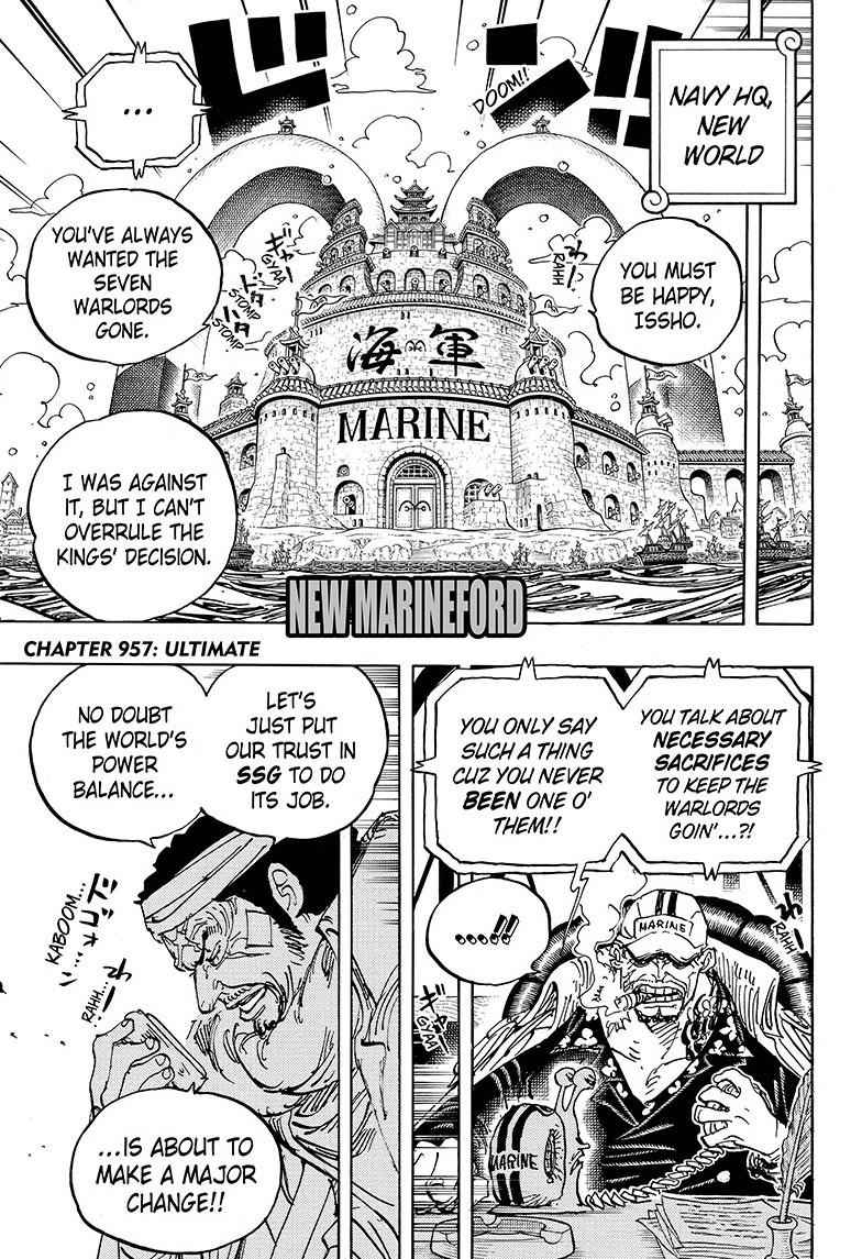 One Piece Chapter 957 Page 3