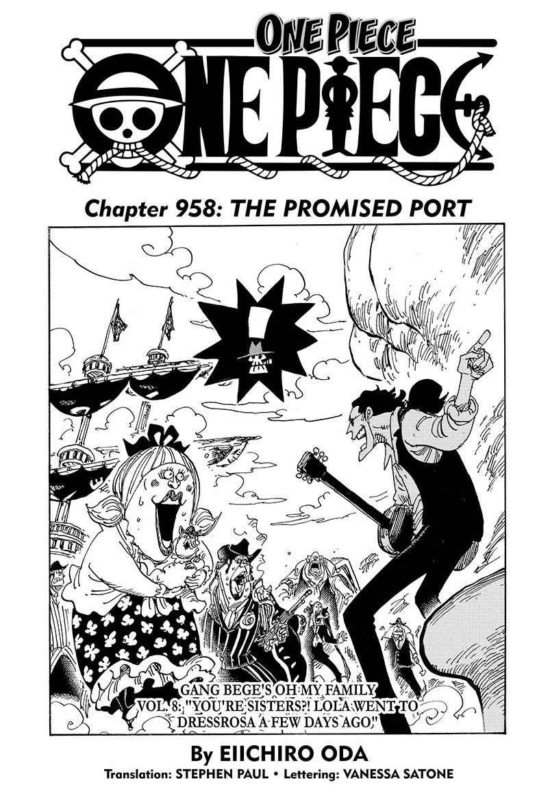One Piece Chapter 958 Page 1
