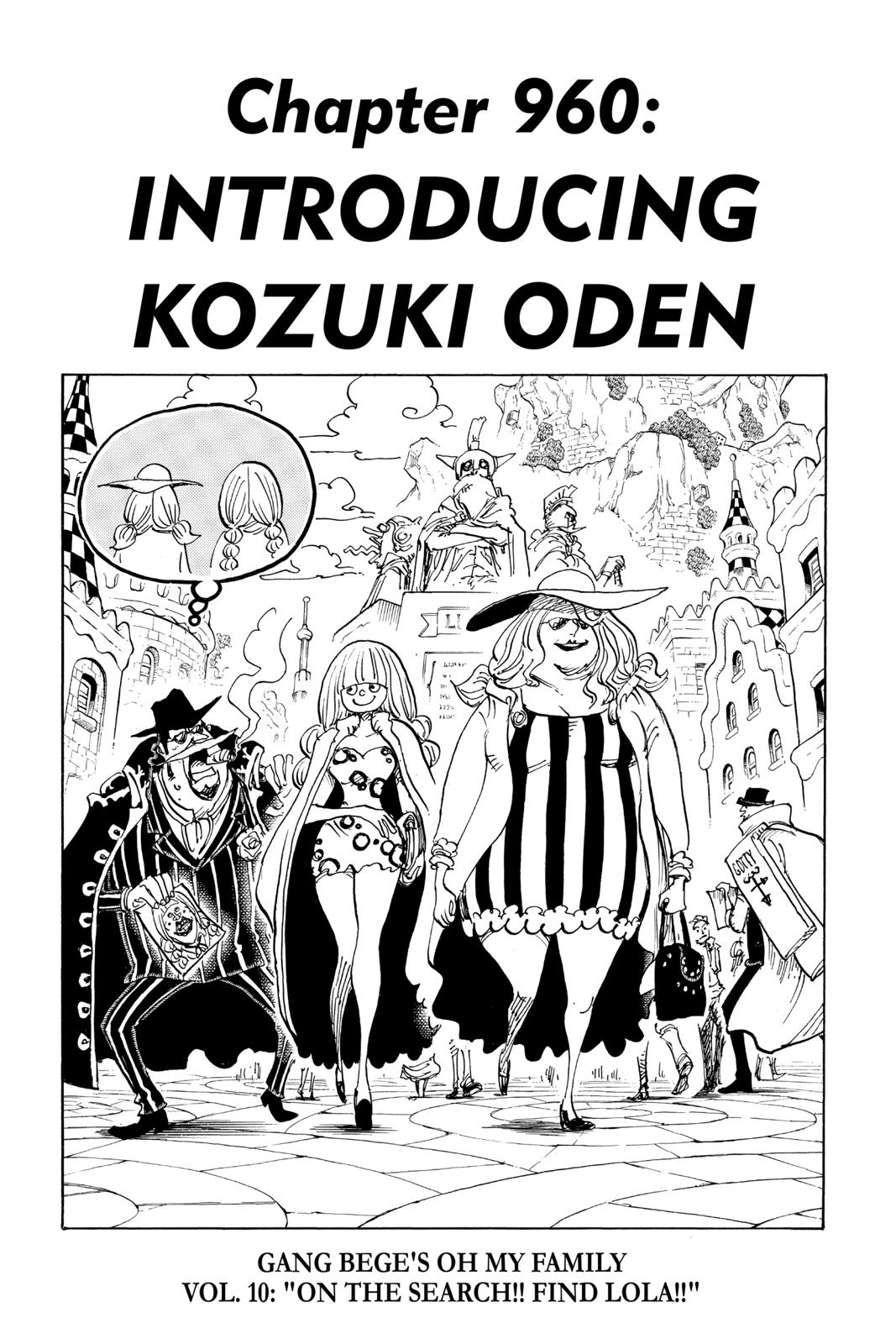 One Piece Chapter 960 Page 1