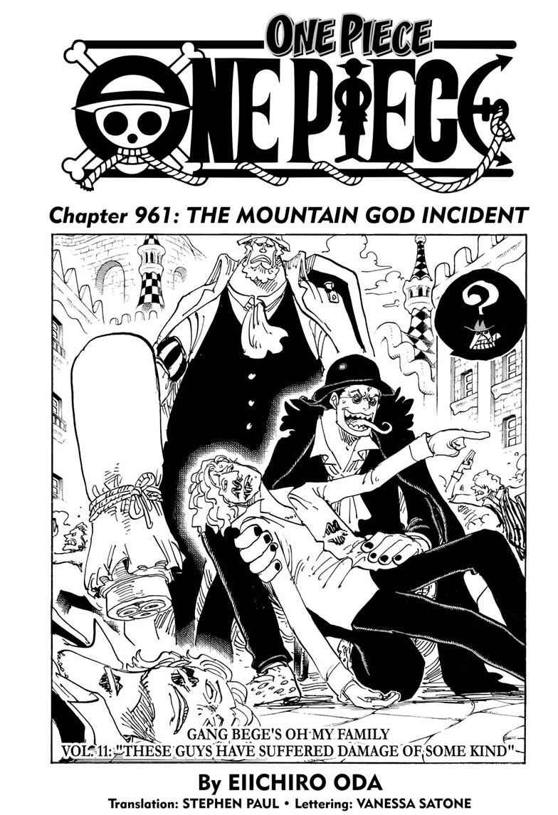 One Piece Chapter 961 Page 1