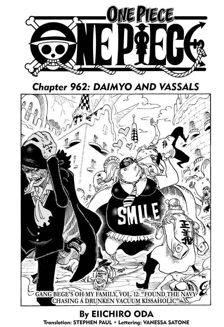 One Piece Chapter 962 Page 1