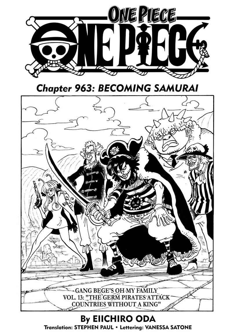 One Piece Chapter 963 Page 1