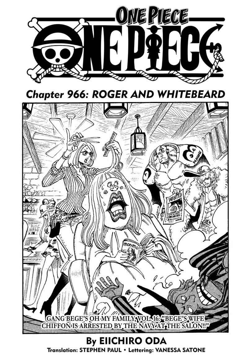 One Piece Chapter 966 Page 1