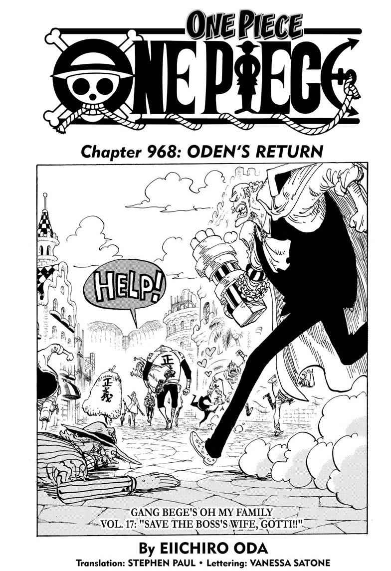 One Piece Chapter 968 Page 1