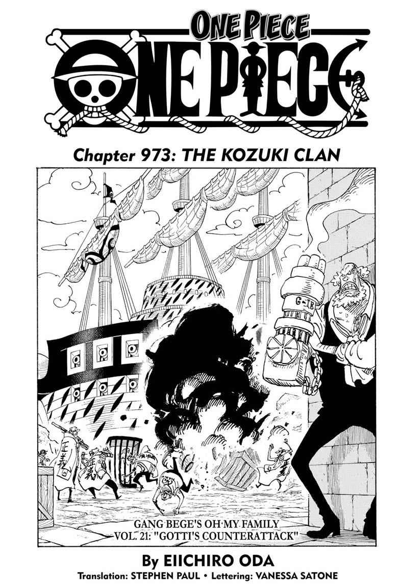 One Piece Chapter 973 Page 1